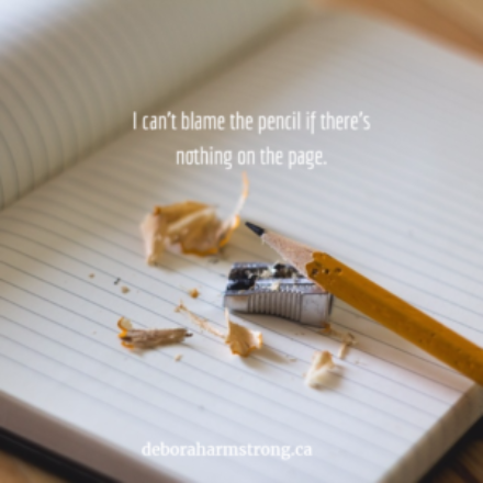 My Pencil is Sharp But My Page is Blank