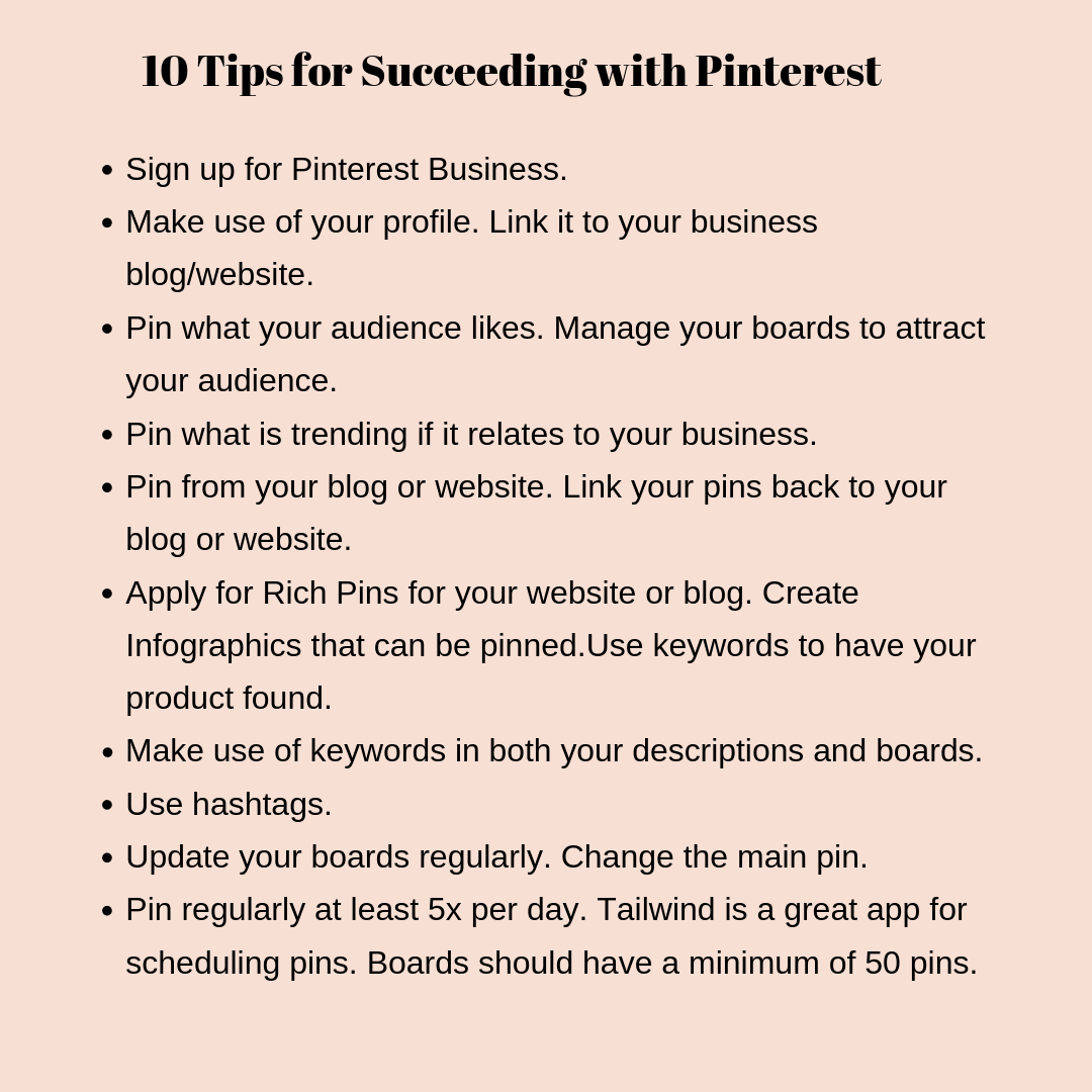 Must Know Tips for Pinterest