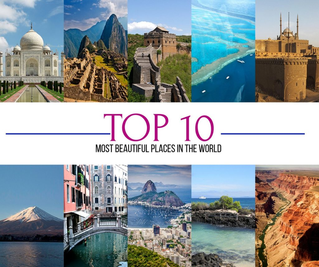 Most popular places on bucket lists.